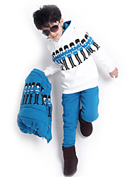 Boy's Cotton Blend Clothing Set,Winter Print