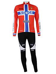 Kooplus2013 Championship Noruega Jersey poliéster e Lycra e elástico Ciclismo Suits Tecido (camisa + calça)