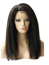 "16"" Brazilian Kinky Straight Front Lace Human Hair Wig"