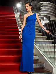 TS Couture® Formal Evening / Military Ball Dress - Royal Blue Plus Sizes / Petite Sheath/Column One Shoulder Ankle-length Jersey