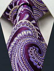 Visite floral pourpre Imprimer cravate des hommes