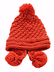 Women's Pure Color Winter Knit Hat(52-58cm)