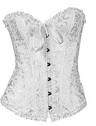 jacquard fermeture Busk shapewear corset avant lingerie sexy shaper