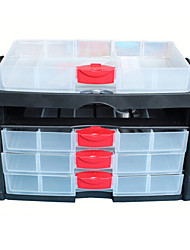 Modern 4 Layers Plastic Transparent Storage Box