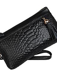 Мега Женщины стороны провести Crocodie кошелек (черный)