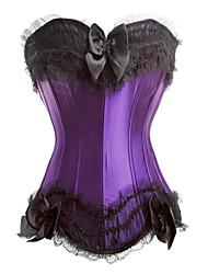 imitant la soie désossage corset en plastique shapewear lingerie sexy shaper