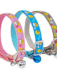 Metal Buckle Little Chicken Pattern Small Collar with Little Bell for Dogs (Random Color)