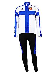 Kooplus - Финская национальная велосипедной команды с длинным рукавом руно Биб костюм