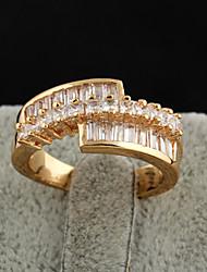 XINXIN Frauen-18K Gold Zirkon Ring J0462