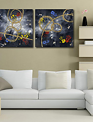 Stretched Canvas Print Art Abstract Prints of Hand Set of 2