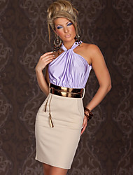 Women's Dresses , Polyester Casual Topro