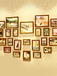 Klassische Brown Foto Wall Frame Collection - Satz von 23
