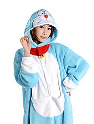 Kigurumi Pijamas Anime Malha Collant/Pijama Macacão Festival/Celebração Pijamas Animal Azul Miscelânea Velocino de Coral Kigurumi Para