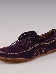 Simul style chinois en cuir rétro Chaussures (Violet)