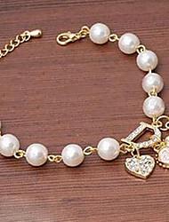 Bracelet MISS U White Pearl D Pendentif