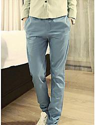 lino sólido pantalones de color de los hombres 13ssyh01p003z-05