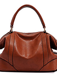 INLEELA Leather Solid Color Shoulder Bag