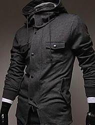 ZHELIN Classic Solid Leisure Mens Jacket Hooded Jacket