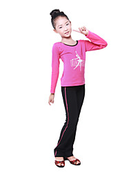 Dancewear Thicken Lycra BowKnot Color Block Ballroom Dance Top For Kids(More Colors)