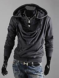 Shangdu oblicua de la cremallera con capucha (gris oscuro)