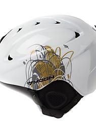 LUA Unsiex Grama Branco Outono / Inverno ABS Ski / Snowboard Helmet
