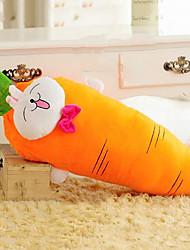 Lovely Cartoon Carrot Shape Smiling Rabbit Pattern Novelty Pillow