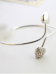 MISS U Silver Diamond Heart Bracelet