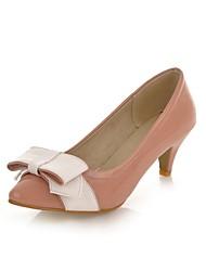 Patent Leather Women's Cone Heel met strik schoenen (meer kleuren)