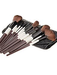 18Pcs Cosmetic Brush Set with Black PU Case