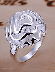 Ring Fashion Party Jewelry Brass / Silver Plated Women Band Rings 1pc,One Size Gold