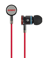 Somic MH405 Música de moda estéreo diseñado especial In-Ear auriculares con el Mic para MP3/iPad/iPhone/MP4