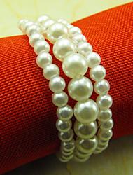 Mariage de perle Rond de serviette, acrylique Dia 4.5cm