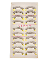 Hand-made Natural False Upper Eyelashes 222
