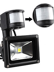 LED Flood Light,1 LED, Modern Aluminum White/Warm White