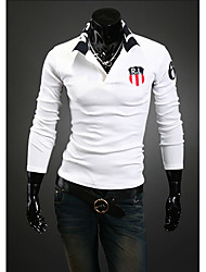 DD Wear Classical Lapel R.L Print Slimming POLO Shirt(White)