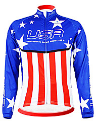 KOOPLUS Cycling Tops / Jerseys Men's Bike Breathable / Moisture Permeability / Wearable / Thermal / Warm / Fleece Lining Long Sleeve