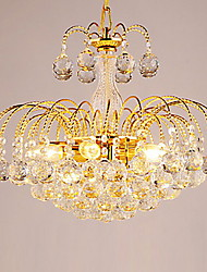 Chandelier ,  Modern/Contemporary Electroplated Feature for Crystal Metal Living Room Bedroom Dining Room Hallway