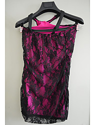 SSY Sexy One Shoulder Lace Short Dress (Pink)