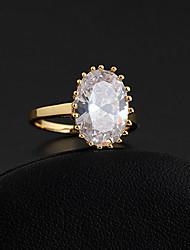 Or 18K anneau de Zircon J28826 de Xinxin femmes