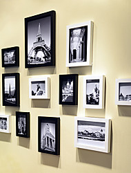 Contemporary Gallery Collage Picture Frames, Set of 13