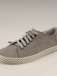 Simul Leather  Lacing Shoes (Gray)