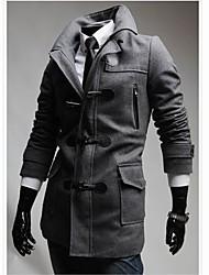 'S INMUR staccabile Cappello uomo cappotto di lana Button Horn Coat