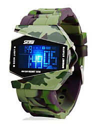 Men's Watch Camouflage Military Stealth Aircraft LED Multi-Function Cool Watch Unique Watch