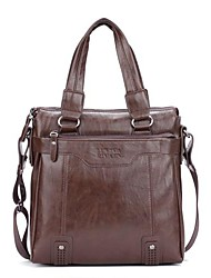 Men Other Leather Type Formal Shoulder Bag / Tote Brown / Black