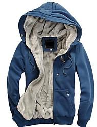 Moda masculina con una capucha Plus Velvet Warm Coat Hoodies