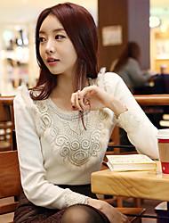 Shuxueer WCL024 Spitze Abnehmen Fashion weißen Pullover