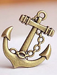 Anchor Shaped Bronze Pendant for Keychain - Set of 20