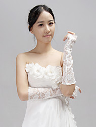 Elbow Length Half Finger Glove Lace Bridal Gloves/Party/ Evening Gloves