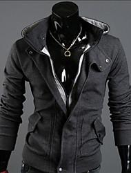 de v encapuchado de la rebeca de la moda (gris oscuro)