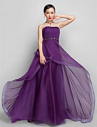 Prom / Formal Evening / Military Ball Dress - Grape Plus Sizes / Petite A-line Strapless Asymmetrical Chiffon